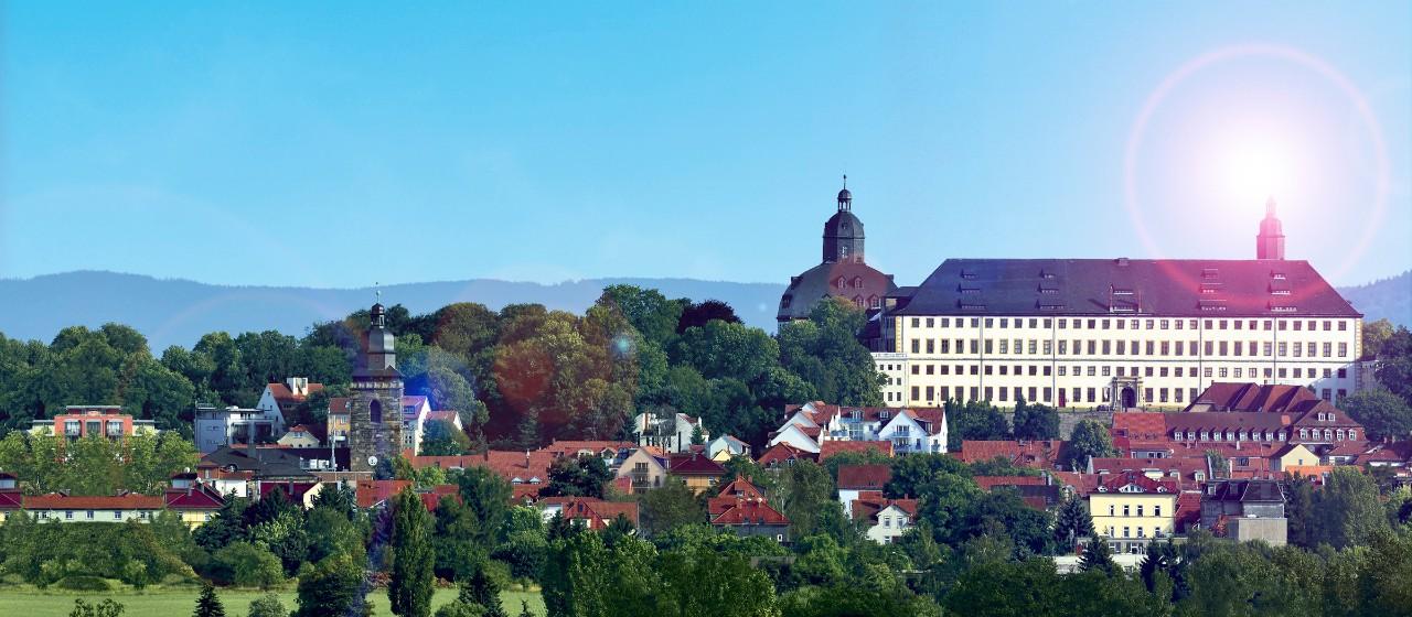 Blick auf Schloss Friedenstein in Gotha
